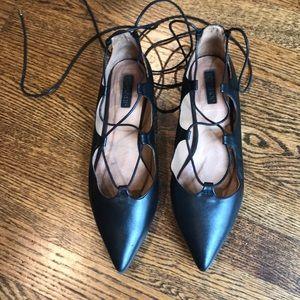 Topshop ankle lace shoes